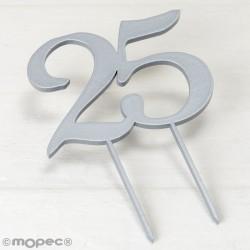Cake topper de madera, 25...
